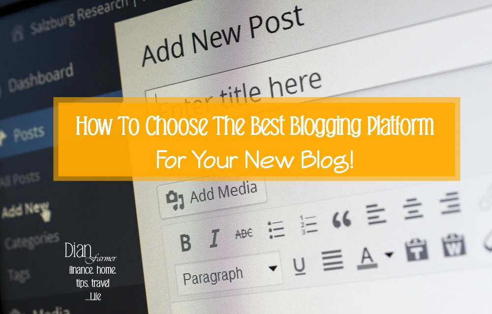 Here you will find the best blogging platforms available and all the information you need to choose to help make starting a blog easier!