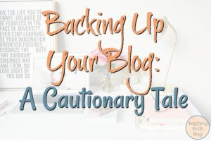 Backing Up Your Blog A Cautionary Tale hero