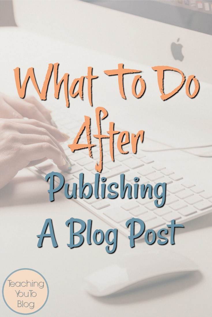What To Do After Publishing A Blog Post. Once you hit publish, the work has just begun. This checklist gives you steps to take after you publish a blog post.
