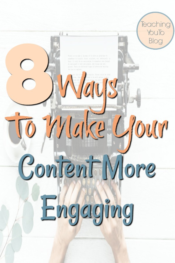 Are you looking for the best ways to make your content more engaging?  These 8 tips will help you write content that engages your reader and makes them spend more time on your site and return often.